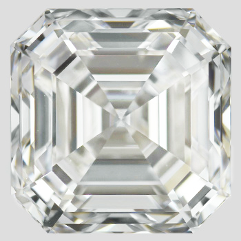 Asscher cut, internally flawless, D color diamond