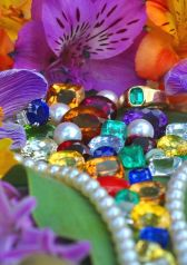 Astrological gem picture of all gems with flowers