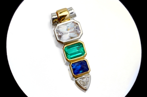 white-sapphire-emerald-blue-sapphire-pendant