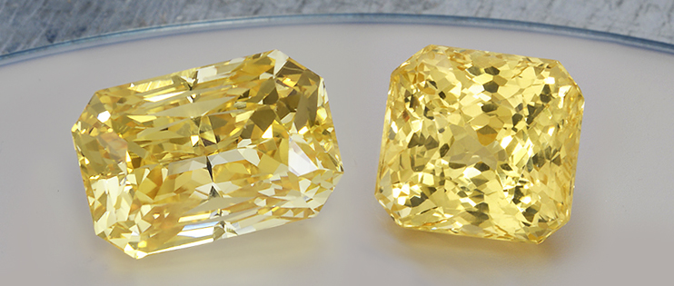 Untreated astrological yellow sapphires, the Jupiter gemstone for Vedic Astrology
