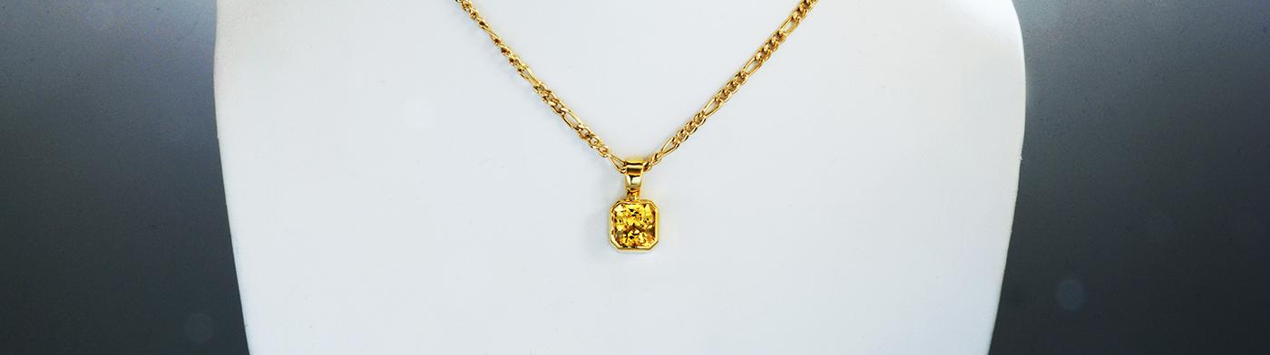 Vedic Astrological Yellow Sapphire Pendant