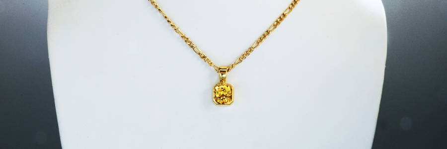 Vedic Astrological Yellow Sapphire Pendant