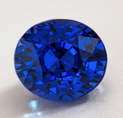 Fine, top-quality, unheated blue sapphire