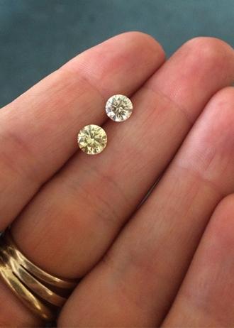 A Fancy Light Yellow and Fancy Yellow Diamond